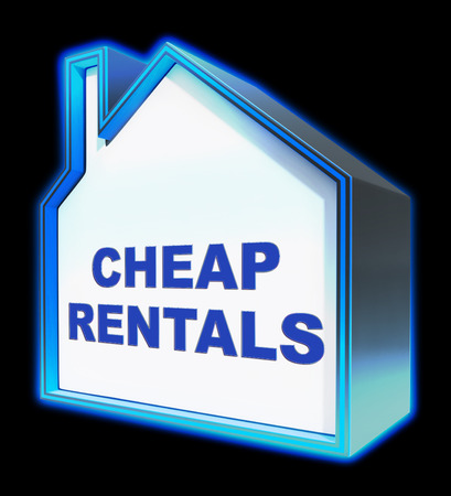 rentals: Cheap Rentals House Meaning Low Cost 3d Rendering