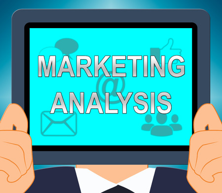Marketing Analysis Showing SEM Research 3d Illustration