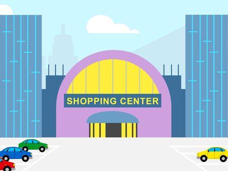 Centro commerciale centro commerciale che mostra l & # 39 ; illustrazione di commercio di vendita Archivio Fotografico - 75643137