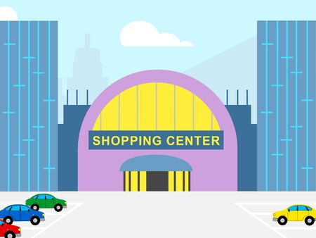 Shopping Center Building Shows Retail Commerce 3d Illustration