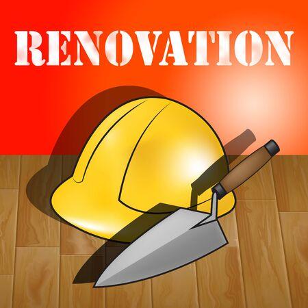 represents: Home Renovation Builders Hat Represents House Improvement 3d Illustration