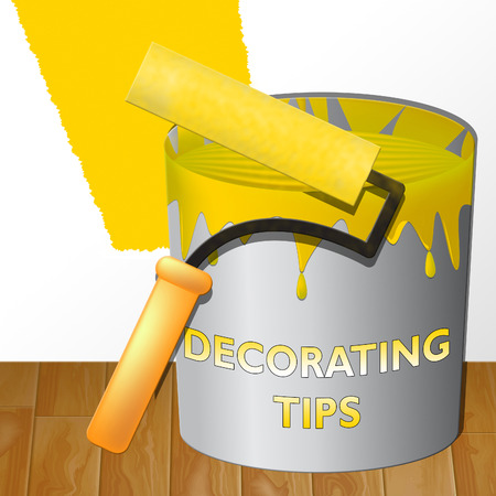 Decorating Tips Paint Showing Decoration Advice 3d Illustration