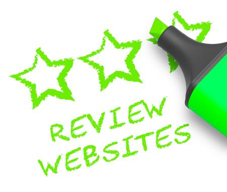 Review Websites Stars Means Site Performance 3d Illustration