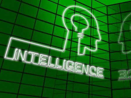 Intelligence Brain Representing Intellectual Capacity And Acumen 3d Illustration