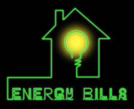 accounts payable: Energy Bills Showing Electric Power 3d Illustration