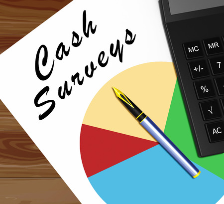 現金調査グラフ意味支払われる 3 d イラストを調査