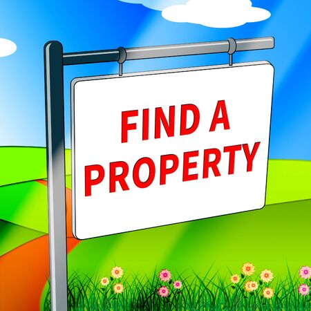 Find A Property Showing Home Search 3d Illustration