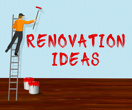 Renovation Ideas Indicating House Improvement Tips 3d Illustration Stock Photo