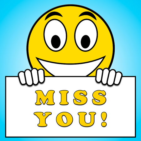 Miss You Sign Meaning Longing 3d Illustration