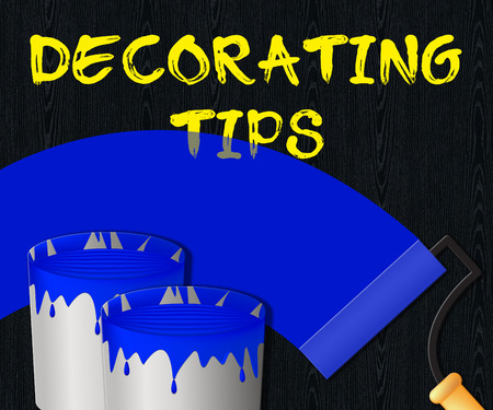 Decorating Tips Paint Showing Displays Advice 3d Illustration