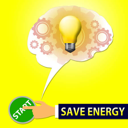 Save Energy Light Showing Reduce Electric 3d Illustration