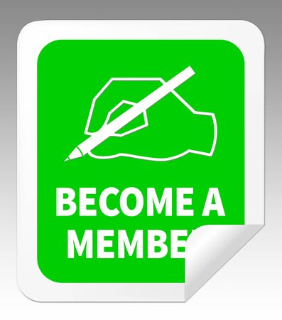 become: Become A Member Hand Meaning Join Up 3d Illustration