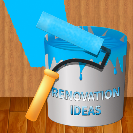 Renovation Ideas Paint Indicating House Improvement Tips 3d Illustration Stock Photo