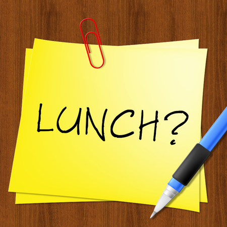 Lunch Or Brunch Note Represents Getting Hungry 3d Illustration Stok Fotoğraf