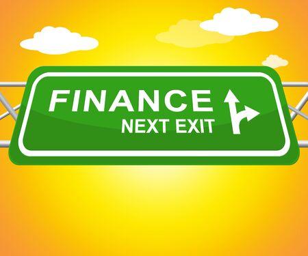 represents: Finance Sign Represents Financial Investment 3d Illustration