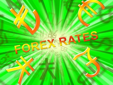 Forex Rates Symbols Indicates Foreign Exchange 3d Illustration