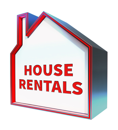 rentals: House Rentals Meaning Real Estate 3d Rendering