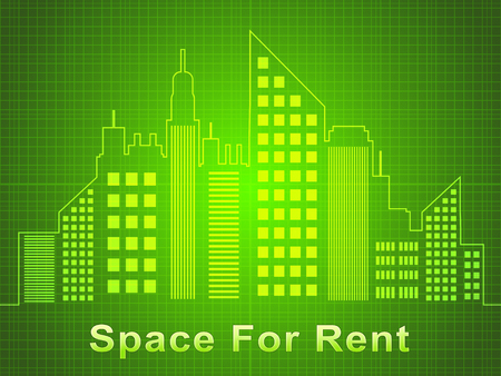 Space For Rent Skyscrapers Represents Real Estate Offices 3d Illustration