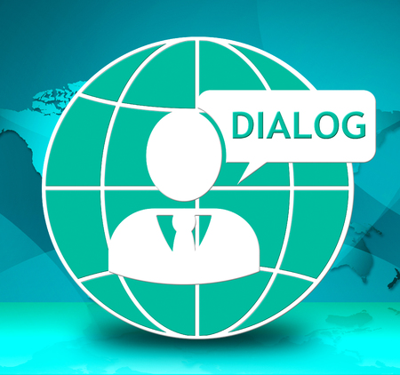 Dialog Icon Showing Group Discussion 3d Illustration Stock Photo