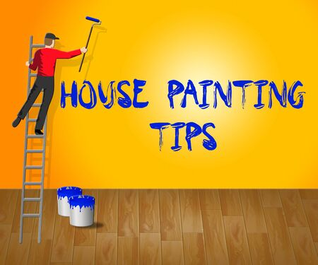 House Painting Tips Showing House Paint 3d Illustration Stock Photo
