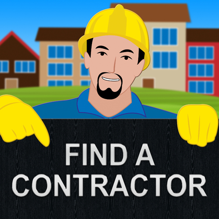 Find A Contractor Showing Finding Builder 3d Illustration