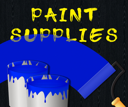 Paint Supplies Displaying Painting Product 3d Illustration