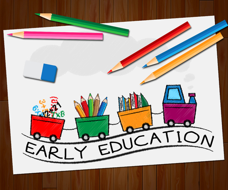 educated: Early Education Train Means Kids School 3d Illustration