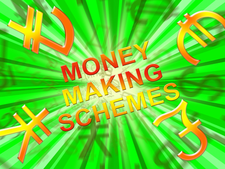 Money Making Schemes Symbols Means Wealth System 3d Illustration