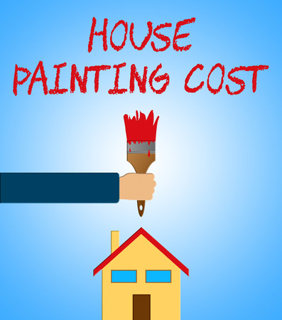 renovate: House Painting Cost Paintbrush Means Paint Price 3d Illustration