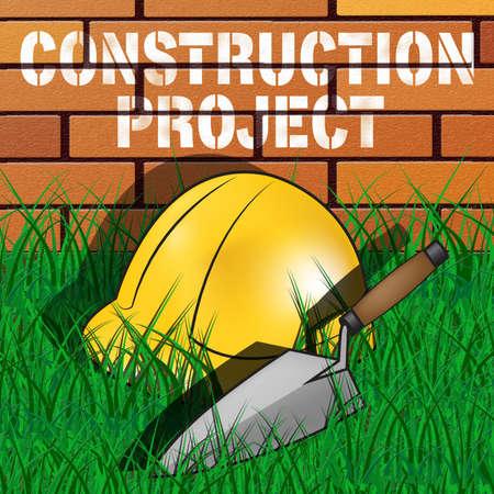 Construction Project Builders Hat Represents Building Venture 3d Illustration
