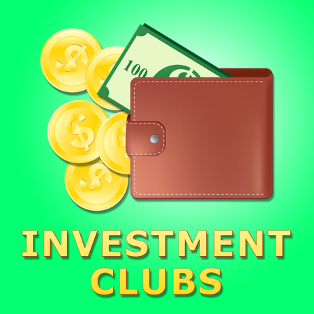 represents: Investment Clubs Wallet Represents Invested Association 3d Illustration