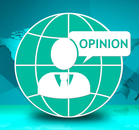 opinion: Opinion Icon Showing Feedback Evaluation 3d Illustration