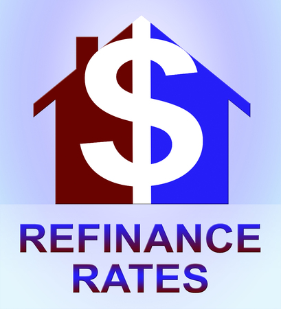 Refinance Rates Dollar Icon Represents Equity Mortgage 3d Illustration