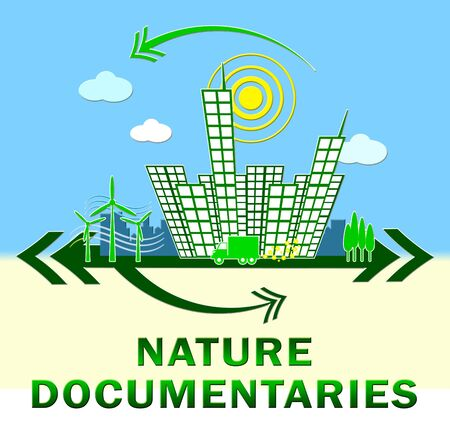 Nature Documentary Town Showing Environment Video 3d Illustration