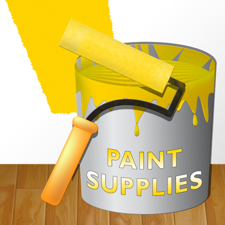 Paint Supplies Shows Painting Product 3d Illustration
