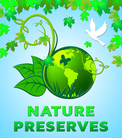 Nature Preserves Showing Eco Conservation 3d Illustration