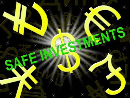 investor: Safe Investments Symbols Means Low Risk 3d Illustration