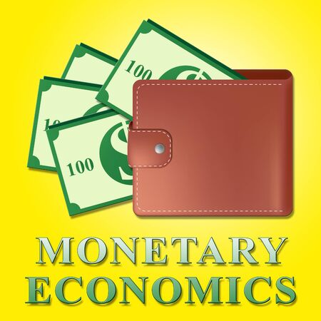Monetary Economics Wallet Meaning Finance Economy 3d Illustration