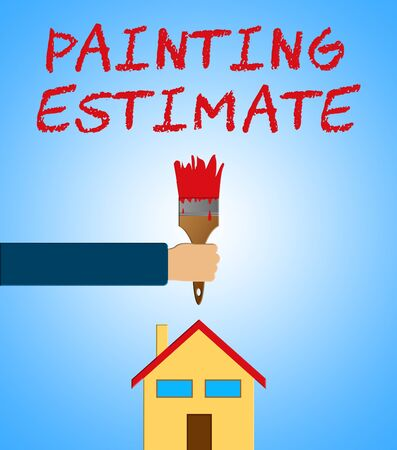 Painting Estimate Paintbrush Meaning Renovation Quote 3d Illustration Stock Photo