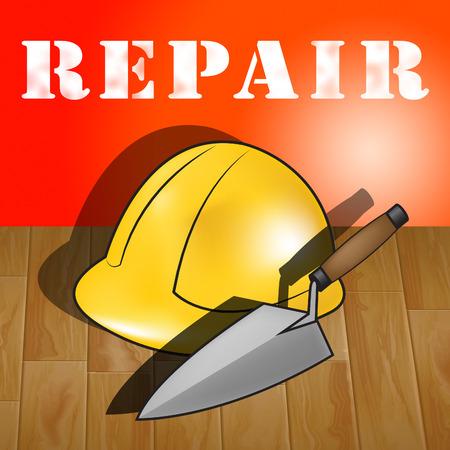 House Repair Builders Hat Representing Fixing House 3d Illustration