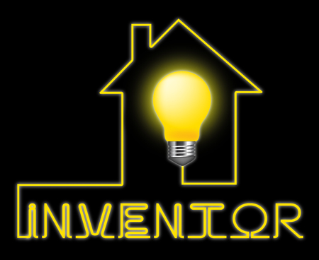 invents: Inventor Light Meaning Innovating Invents And Innovating