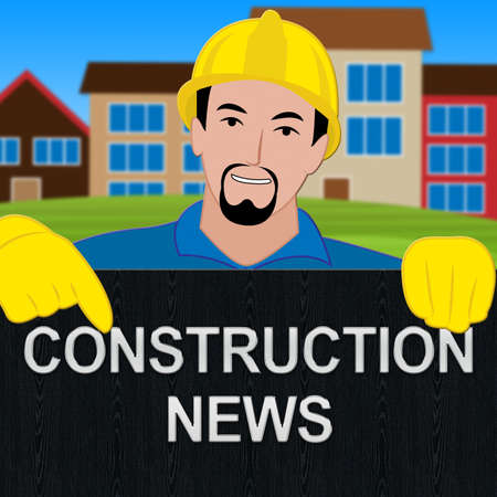 Construction News Sign Meaning Information 3d Illustration