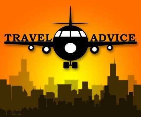 Travel Advice Plane Means Guidance Getaway 3d Illustration