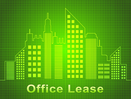 Office Lease Skyscrapers Represents Real Estate Offices 3d Illustration