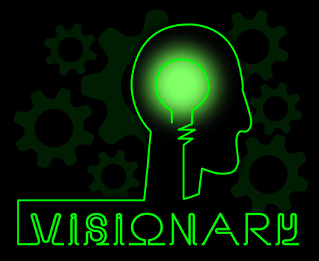 Visionary Brain Representing Insights Strategist And Ideals Stok Fotoğraf