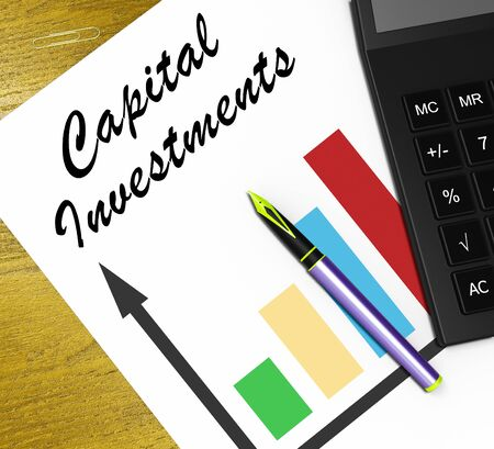 Capital Investments Graph Means Equity Investment 3d Illustration