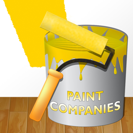 Paint Companies Paint Showing Painting Product 3d Illustration Stock Photo