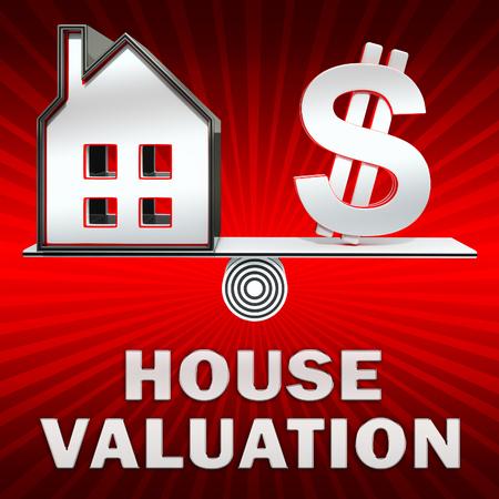 House Valuation Dollar Sign Displays Current Price 3d Illustration