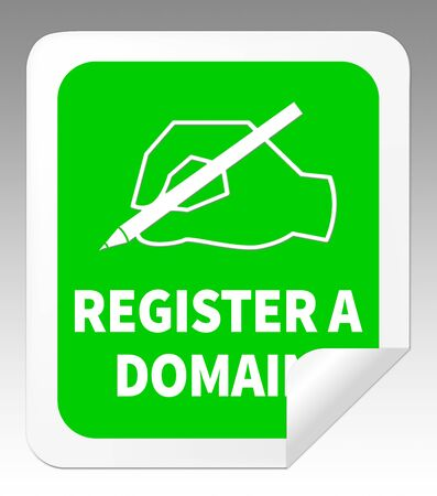 Register A Domain Icon Indicates Sign Up 3d Illustration