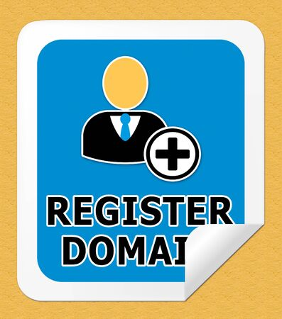 Register Domain Icon Indicating Sign Up 3d Illustration
